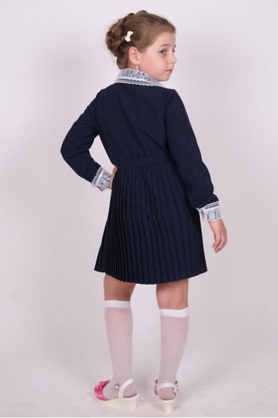 1b5816dbade ... Платье школьное синее