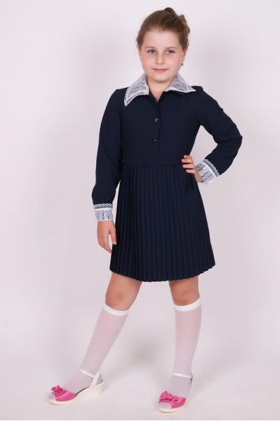 5da4da3aa6f Платье школьное синее