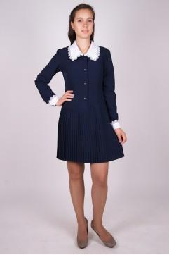 24d9e6de18c Платье школьное синее