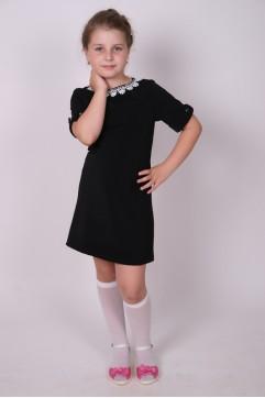 Платье школьное черное «Ольга» (для всех школьных групп)