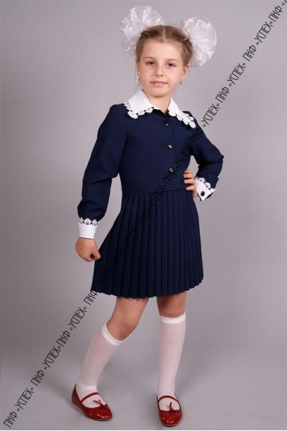 64113e23b56 Платье школьное синее