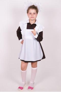 Фартук школьный белый «Шелк»